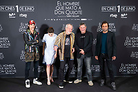 Oscar Jaenada, Joana Ribeiro, British director Terry Gilliam, Sergi Lopez and Jordi Molla attends to presentation of 'El hombre que mato a Don Quijote' (The man who killed Don Quixote) at NH Eurobuilding Hotel in Madrid, Spain. May 29, 2018. (ALTERPHOTOS/Borja B.Hojas) /NortePhoto.com