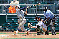 5 June 2010:  FIU's Garrett Wittels (10) bats in the fourth inning as the Dartmouth Green Wave defeated the FIU Golden Panthers, 15-9, in Game 3 of the 2010 NCAA Coral Gables Regional at Alex Rodriguez Park in Coral Gables, Florida.  With his first-inning double, Wittels extended his hitting streak to 56 games, moving within two games of Oklahoma State's Robin Ventura, who holds the NCAA Division I record with a 58-game hitting streak in 1987.