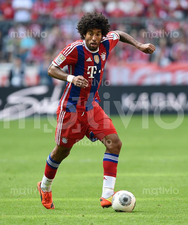 FUSSBALL   1. BUNDESLIGA   SAISON 2013/2014  34. SPIELTAG FC Bayern Muenchen - VfB Stuttgart             10.05.2014 Dante (FC Bayern Muenchen) am Ball
