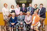 Enjoying the Ardfert Golf Club Society Annual Dinner at Ballyroe Heights Hotel on Friday were Maureen Tiplady, Leslie Tiplady, Captain, Nora Quinlan, Lady Captain, Phil Kelly, Back l-r Margaret Scanlon, Angela Deenihan, Karen Gearon, Peter Kelly, Angela Enright, Eleanor Dowd and Joan Cantillon