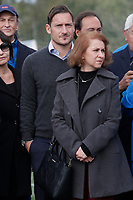 Francesco Totti and Concetta Raccuia, mother of Sara di Pietrantonio<br /> Roma 23/12/2017. Totti Soccer School. Partita contro la violenza sulle donne in memoria di Sara di Pietrantonio.<br /> Rome November 23rd 2017. Totti Soccer School. Friendly soccer match fight violence against women.<br /> Foto Samantha Zucchi Insidefoto