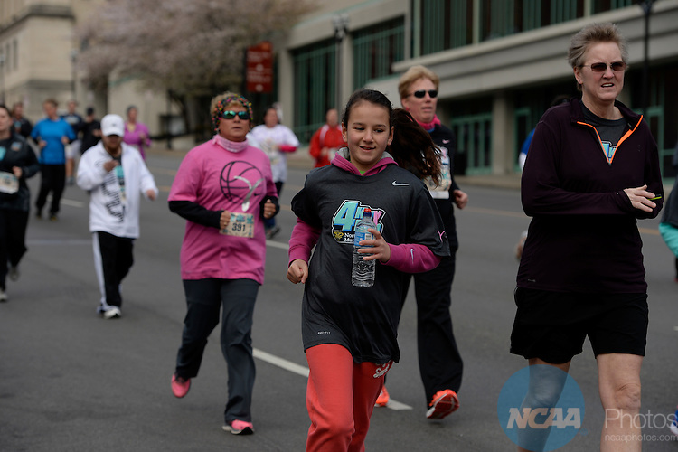 05 APR 2014:  The 4Kay run takes place as part of the 2014 NCAA Women's Basketball Final Four in Nashville, TN.  Jamie Schwaberow/NCAA Photos