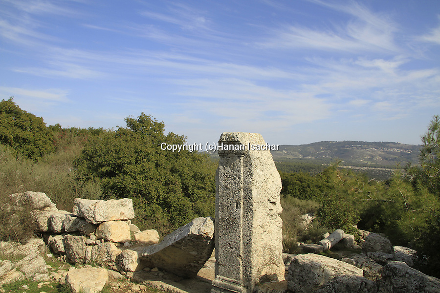 Israel, Upper Galilee, the ancient Synagogue of Hurvat Shema on Mount Meron