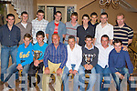 Killorglin FC senior team celebrate their victories in the Premier B league and the Reserve cup at their social in Bunkers bar and restaurant Killorglin on Saturday night front row l-r: Michael Geary, Dean Cournane, Mike Griffin, Batty Foley, David Sweeney, Paul Russell, Aidan O'Connor. Back row: Paul O'Connor, JJ Foley, Chris O'Brien, Trevor Dunlea, Colin O'Dwyer, Lawrence O'Connor, Ryan Keane, Frankie Sullivan and Maurice O'Shea.
