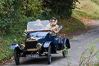 Vintage Standard car made in Coventry, on a Veteran Car Club rally around Oxfordshire, United Kingdom