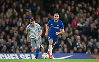 Danny Drinkwater of Chelsea moves away from James McCarthy of Everton during the Carabao Cup round of 16 match between Chelsea and Everton at Stamford Bridge, London, England on 25 October 2017. Photo by Andy Rowland.