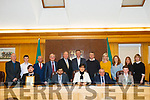Recipients and councillors at the Tralee Municipal Awards last Friday. <br /> Front left to right Joshua Saunders (KDYS), Dr Rizwan Khan, Mayor of Tralee Cllr Norma Foley, Manager of Tralee Municipal District, Michael Scannell, and boxer Patrick McCarthy. <br /> Back left to right Fr Ger Godley (KDYS), Conor Horan (KDYS), Cllr Sam Locke, Cllr Pat McCarthy, Cllr Jim Finucane, Cllr Graham Spring, Cllr Pa Daly, Cllr Toireasa Ferris, Dawn Roberts and Collette Price (Tralee Soup Kitchen) and Jean Foley (council)