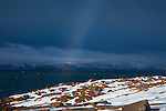 Rainbow over Cadillac Mountain in Acadia National Park, Downeast, ME, USA