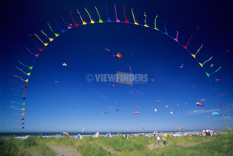 Giant Arch of Colorful Kites, Washington State International Kite Festival