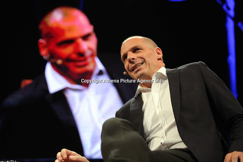 Hay on Wye, UK. Monday 30 May 2016<br />Former Greek Finance Minister Yanis Varoufakis at the Hay Festival, Hay on Wye, Wales, UK