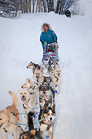 Bill Cotter on the trail into Takotna during Iditarod 2009
