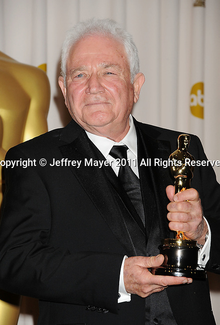 HOLLYWOOD, CA - FEBRUARY 27: David Seidler poses in the press room during the 83rd Annual Academy Awards held at the Kodak Theatre on February 27, 2011 in Hollywood, California.