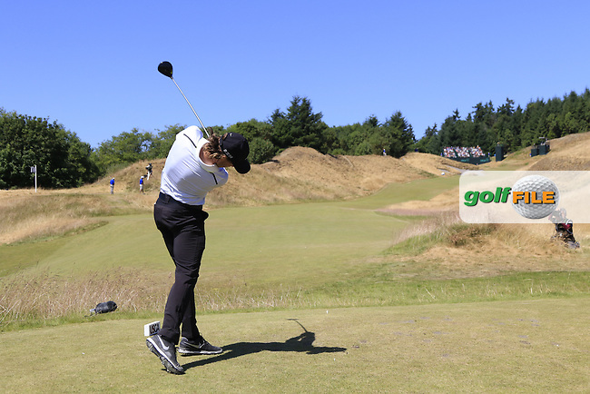 Tommy FLEETWOOD (ENG) tees off the 12th tee during Wednesday's Practice Day of the 2015 U.S. Open 115th National Championship held at Chambers Bay, Seattle, Washington, USA. 6/17/2015.<br /> Picture: Golffile | Eoin Clarke<br /> <br /> <br /> <br /> <br /> All photo usage must carry mandatory copyright credit (&copy; Golffile | Eoin Clarke)