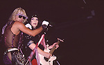 Vince Neil & Mick Mars of Motley Crue at Madison Square Garden Aug 1985.