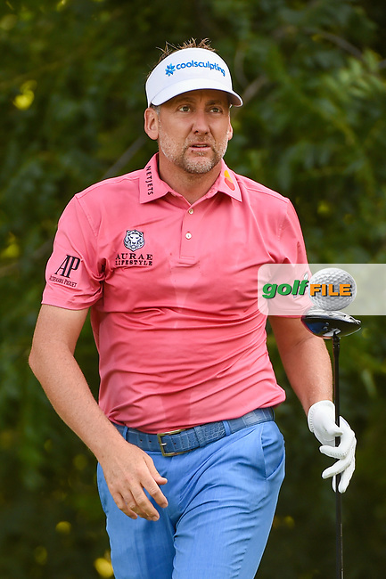 Ian Poulter (GBR) watches his tee shot on 6 during round 3 of the 2019 Charles Schwab Challenge, Colonial Country Club, Ft. Worth, Texas,  USA. 5/25/2019.<br /> Picture: Golffile | Ken Murray<br /> <br /> All photo usage must carry mandatory copyright credit (© Golffile | Ken Murray)