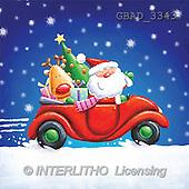 Addy, CHRISTMAS SANTA, SNOWMAN, paintings, santa, red car(GBAD3343,#X#)