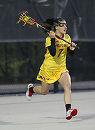 College Park, MD - April 19, 2018: Maryland Terrapins Catie May (7) in action during game between Penn St. and Maryland at  Field Hockey and Lacrosse Complex in College Park, MD.  (Photo by Elliott Brown/Media Images International)