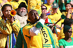 11 JUN 2010: South Africa fans in the stands of the Soccer City Stadium blowing vuvuzelas, pregame. The South Africa National Team played the Mexico National Team at Soccer City Stadium in Johannesburg, South Africa in the opening match of the 2010 FIFA World Cup.