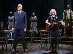 """Patrick Page and Anais Mitchell during the Broadway Press Performance Preview of """"Hadestown""""  at the Walter Kerr Theatre on March 18, 2019 in New York City."""
