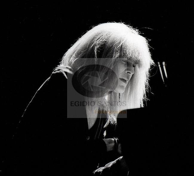 Carla Bley, jazz musician, playing at Porto.