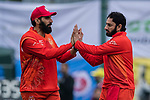 Saeed Ajmal of HKI United (R) celebrates with his teammate Misbah Ul-Haq of HKI United (L) after taking the wicket during the DTC Hong Kong T20 Blitz match between HKI United vs City Kaitak on 12 March 2017, in Tin Kwong Road Recreation Ground, Hong Kong, China. Photo by Chris Wong / Power Sport Images