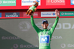Alejandro Valverde (ESP) Movistar Team retains the Green Jersey at the end of Stage 16 of the La Vuelta 2018, an individual time trial running 32km from Santillana del Mar to Torrelavega, Spain. 11th September 2018.                    Picture: Unipublic/Photogomezsport | Cyclefile<br /> <br /> <br /> All photos usage must carry mandatory copyright credit (&copy; Cyclefile | Unipublic/Photogomezsport)