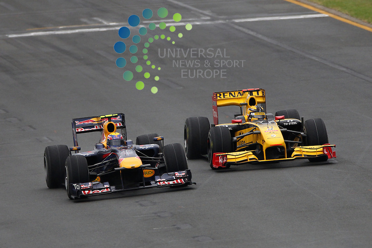 F1 GP of Australia, Melbourne 26. - 28. March 2010.Mark Webber (AUS), Red Bull Racing - Robert Kubica (POL), Renault F1 Team ..Hasan Bratic;Koblenzerstr.3;56412 Nentershausen;Tel.:0172-2733357;.hb-press-agency@t-online.de;http://www.uptodate-bildagentur.de;.Veroeffentlichung gem. AGB - Stand 09.2006; Foto ist Honorarpflichtig zzgl. 7% Ust.;Hasan Bratic,Koblenzerstr.3,Postfach 1117,56412 Nentershausen; Steuer-Nr.: 30 807 6032 6;Finanzamt Montabaur;  Nassauische Sparkasse Nentershausen; Konto 828017896, BLZ 510 500 15;SWIFT-BIC: NASS DE 55;IBAN: DE69 5105 0015 0828 0178 96; Belegexemplar erforderlich!..