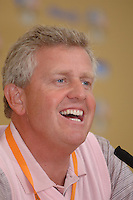 19th September, 2006. Dublin Ireland. Ryder Cup press Conference at the K club..European Ryder Cup team player Colin Montgomerie gives a press conference at the above..Photo: Barry Cronin/ Newsfile.