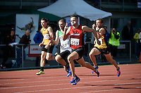Jacob Matson in action during  the Athletics - NZ Track and Field Championships at Newtown Park, Newtown, New Zealand on Friday 6 March 2015. <br />