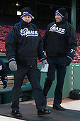 Sean Walsh (UMB - Assistant Coach), Ryan Weston (UMB - Assistant Coach) - The University of Massachusetts Boston Beacons defeated the Salem State University Vikings 4-2 (EN) on Tuesday, January 7, 2014, at Fenway Park in Boston, Massachusetts.