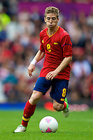 01.08.2012 Manchester, England. Spain midfielder Iker Muniain in action during the third round group D mens match between Spain and Morocco at Old Trafford.
