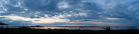 panorama  Sunset from Spectacle Island, Boston harbor, MA