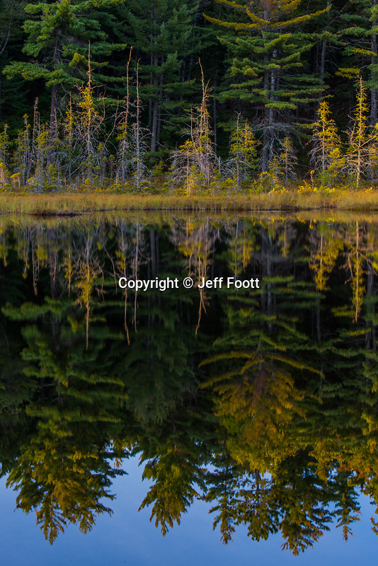 Sunset on Abel pond, Baxter State Park, Maine.