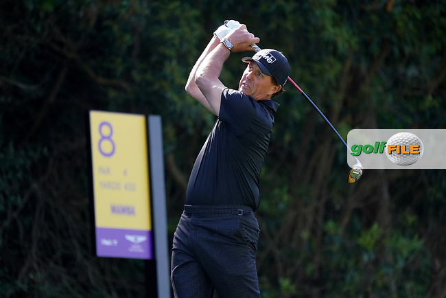 Phil Mickelson (USA) In action during the 1st round of The Genesis Invitational, Riviera Country Club, Pacific Palisades, Los Angeles, USA. 12/02/2020<br /> Picture: Golffile | Phil Inglis<br /> <br /> <br /> All photo usage must carry mandatory copyright credit (© Golffile | Phil Inglis)