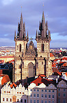 Europe, Czech Republic, Prague. Church of Our Lady before Tyn, Prague.