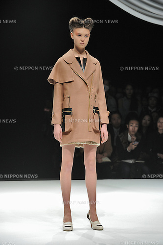 March 20, 2013, Tokyo, Japan - Motonari Ono - Autumn/Winter 2013-14 - Tokyo Collection - Runway. (Photo by Kjeld Duits/AFLO)