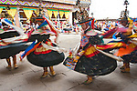 Black hat Dancers at Paro Festival