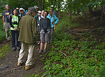 "Overview of the group who participated in the Esopus Creek Conservancy and John Burroughs Natural History Society co-sponsored, ""Breeding Birds and Butterfles Walk- led by Steve Chorvas, in the Esopus Bend Nature Preserve in Saugerties, NY, on Saturday, June 17, 2017. Photo by Jim Peppler. Copyright/Jim Peppler-2017."