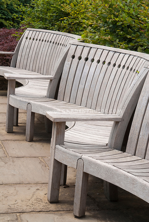 Wooden Bench in the garden