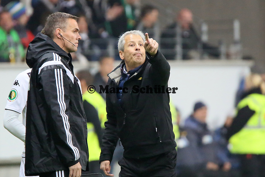 Trainer Lucien Favre (Gladbach) - Eintracht Frankfurt vs. Borussia Mönchengladbach, DFB-Pokal 2. Runde, Commerzbank Arena