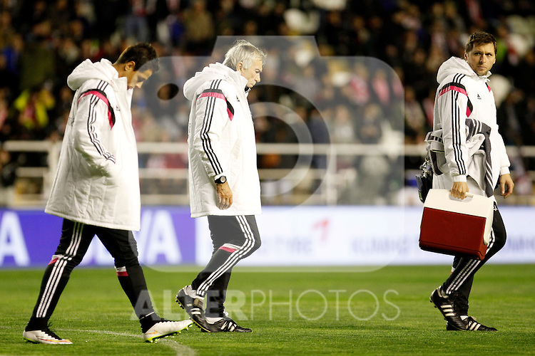 Villiam Vecchi of Real Madrid, centre, during La Liga match between Rayo Vallecano and Real Madrid at Vallecas Stadium in Madrid, Spain. April 08, 2015. (ALTERPHOTOS/Caro Marin)