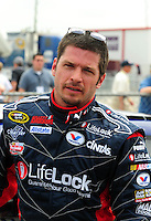 Apr 26, 2008; Talladega, AL, USA; NASCAR Sprint Cup Series driver Patrick Carpentier during qualifying for the Aarons 499 at Talladega Superspeedway. Mandatory Credit: Mark J. Rebilas-US PRESSWIRE