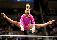 Nastia Liukin of WOGA competes on the uneven bars during the 2012 US Olympic Trials competition at HP Pavilion in San Jose, California on June 29th, 2012.