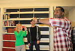 """Rehearsals for Ragtime starring One Life To Live Kerry Butler """"Claudia Reston"""" takes a photo of All My Children Norm Lewis """"Keith McLean"""" & now Scandal on February 11, 2013 for a concert at Avery Fisher Hall, New York City, New York on Monday February 18, 2013. (Photo by Sue Coflin/Max Photos)"""