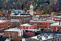 Autumn cityscape of downtown Montpellier, Vermont