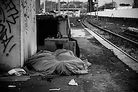 Track n. 15 - Ostiense railway station. This is where most of the Afghans -minors included - regather and  shelter to rest at noon and at night.