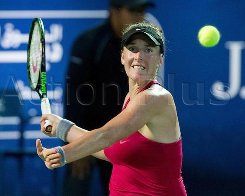 18.02.2016. Dubai, United Arab Emirates.  Madison Brengle (USA) loses to Sara Errani (ITA) at the Dubai Tennis Championships 2016 WTA