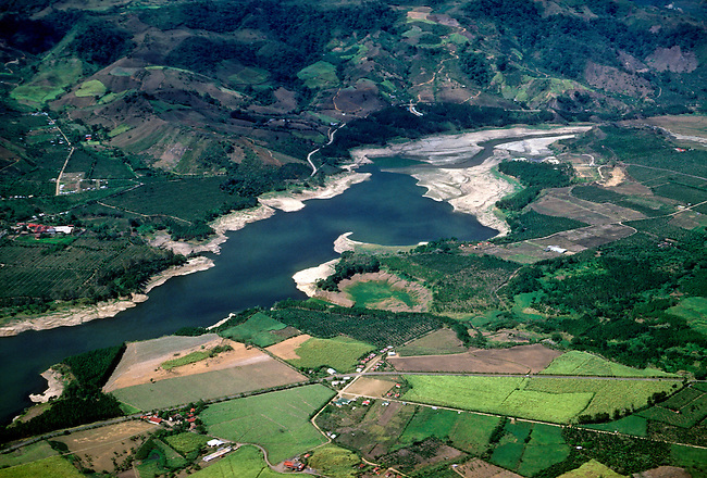 River system, landscape between San Jose and Puerto Limon, Costa Rica, Central America