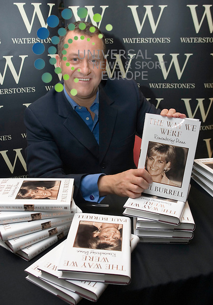 """Paul Burrell with his book """"The Way We Were"""" remembering Princess Diana, during a very slow book launch with less than 20 people turning up see him and get a book signed at Waterstones book store Glasgow..Maurice McDonald / UNS PHOTO. .Universal News & Sport (Scotland)Tel: 07860 9100061. .Office: 01414162066  Fax: 08712116065.."""