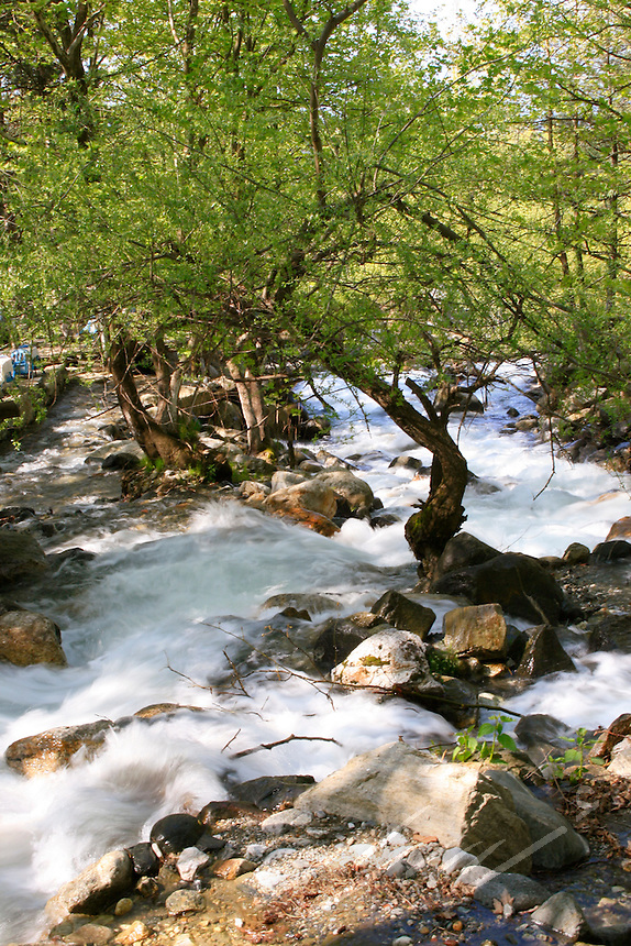 Waterfall and river at Bursa, Turkey.